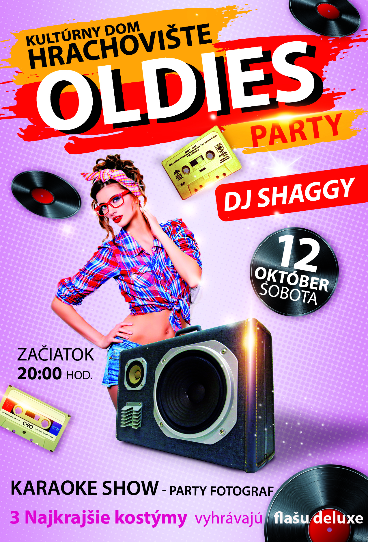 oldies party hrachoviste 2019 plagát